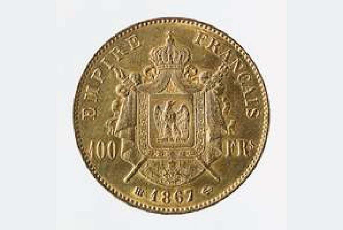 ancienne pièce en or de 100 francs