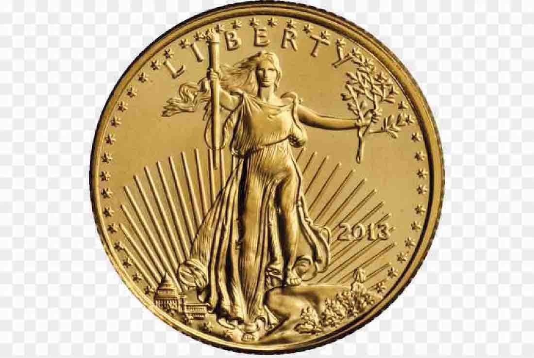 pièce dollars en or