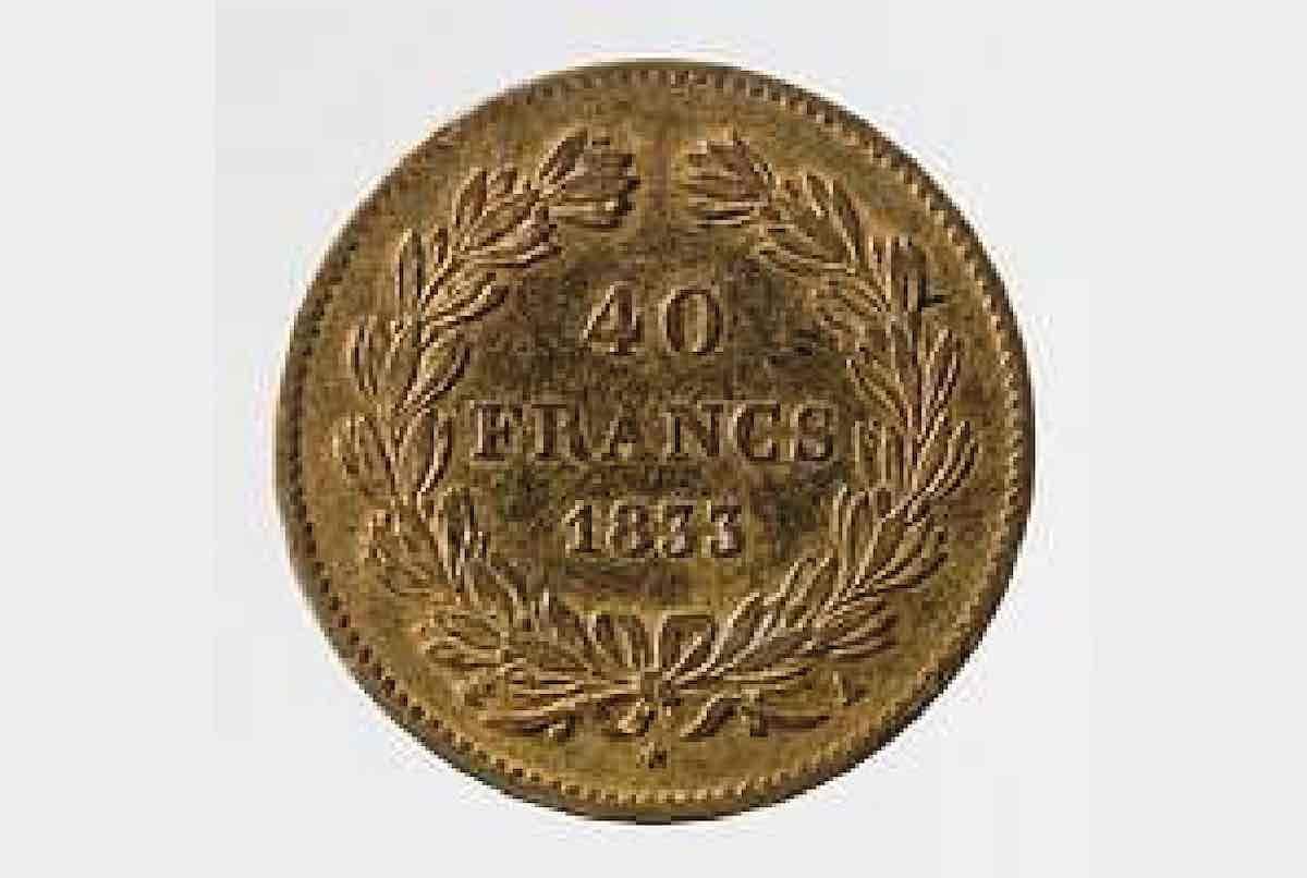 pièce en or 40 francs