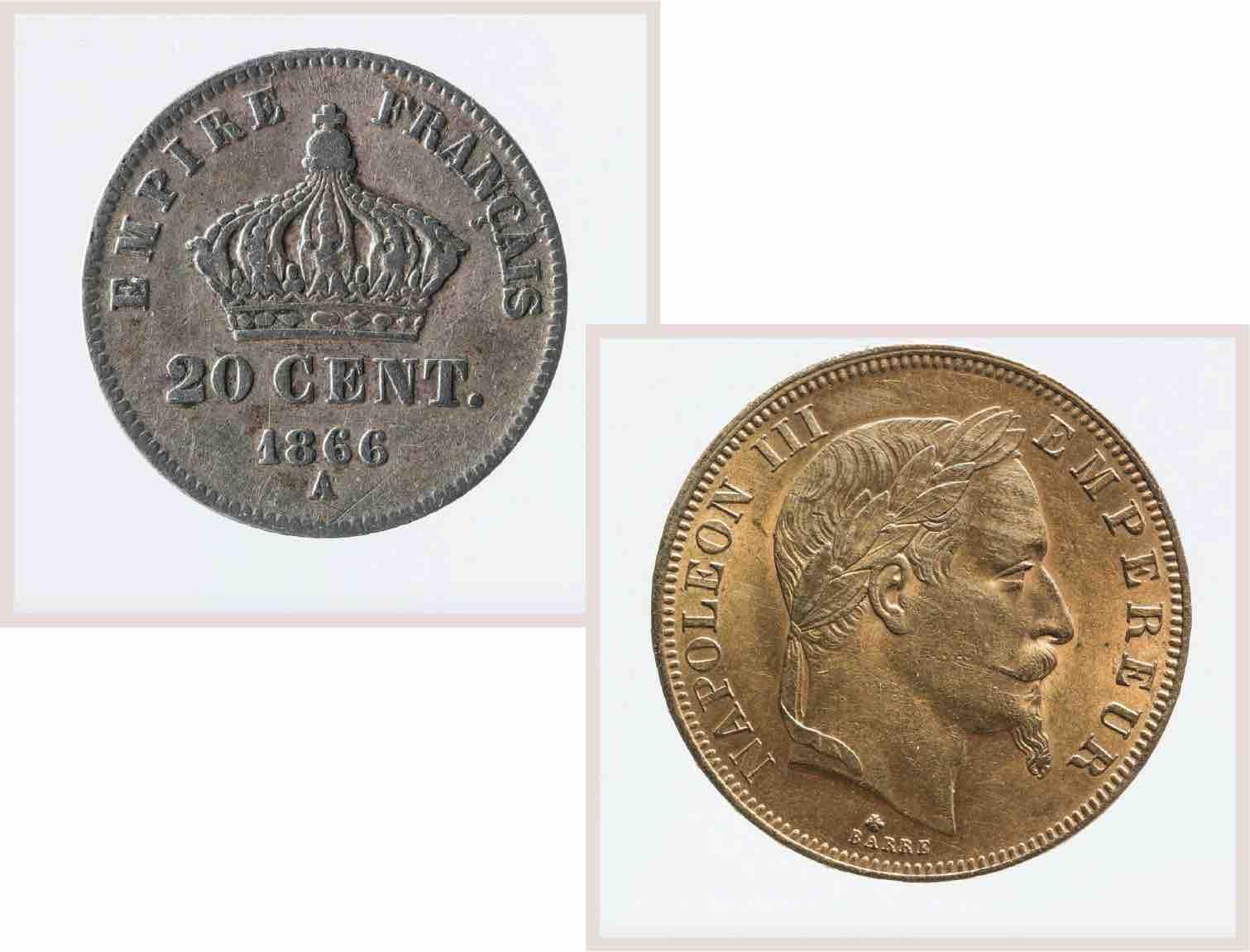 pièces en or empire napoléon
