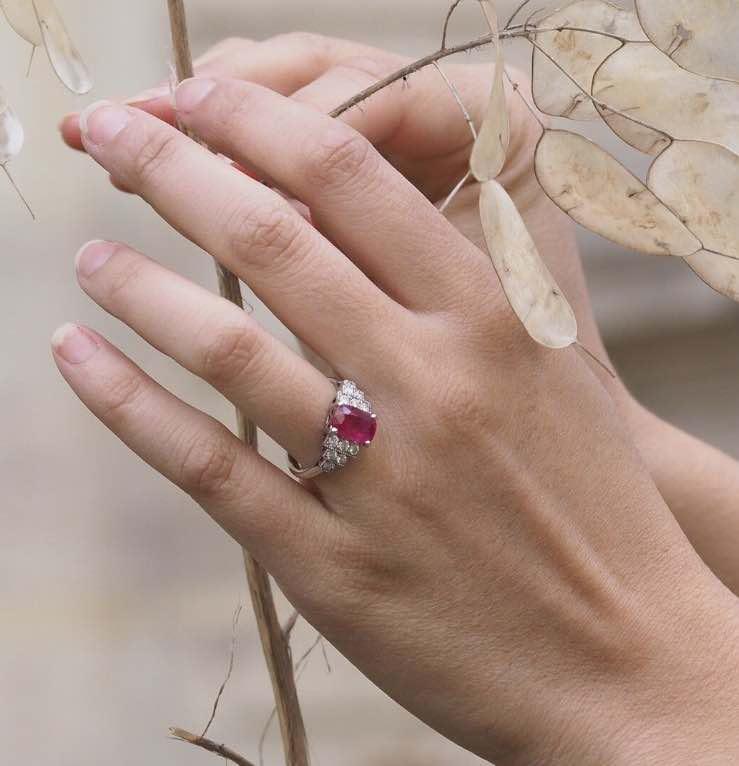 rachat bague rubis diamants