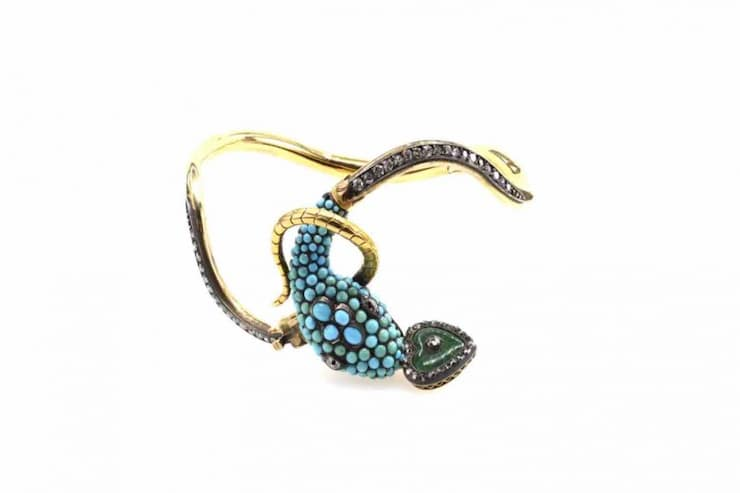 bracelet serpent or jaune