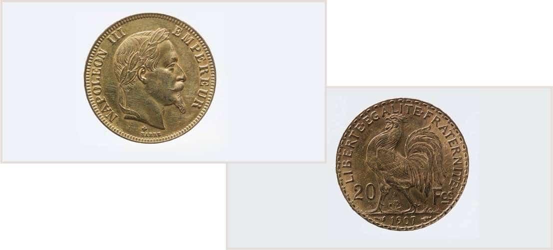 vendre pièces en or